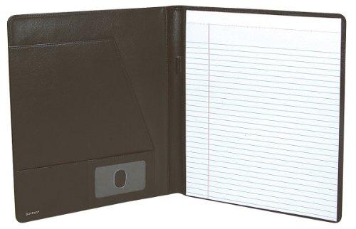 Buxton BX Soft Padded Leather Writing Pad Folio (Dark Bro...