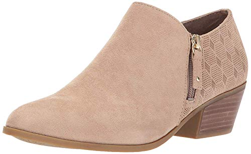 Dr. Scholl's Shoes Women's Brief Ankle Boot, Putty Microfiber Suede, 10 M US