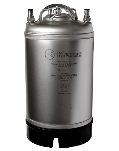 (Kegco KC AB3G-SH New Kegco Home Brew Ball Lock Pepsi Cornelius Beer Keg with Strap Handle)