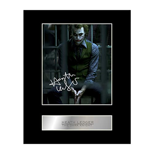 - Heath Ledger, The Joker Signed Mounted Photo Display The Dark Knight #01 Autographed Gift Picture Print