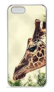 Brian114 iPhone 5S Case - Cute Animals Giraffe 11 Back Case Cover for iPhone 5 5S Hard Clear Cases