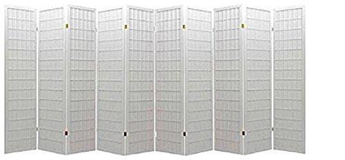 10 Panel Room Divider Square Design White (10 Panel) (10 Panel Room Divider)