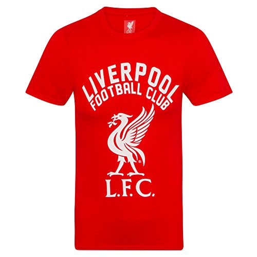Liverpool Fc Home Shirt - Liverpool FC Official Soccer Gift Mens Graphic T-Shirt Red Small