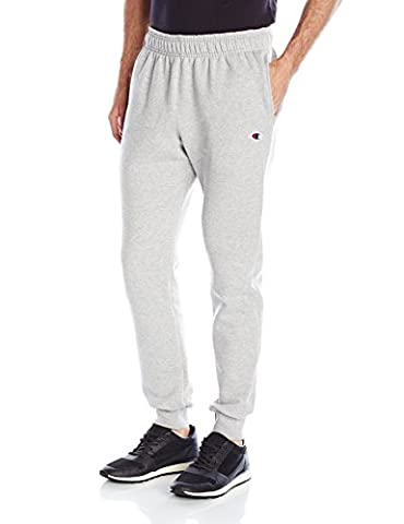 Champion Men's Powerblend Retro Fleece Jogger Pant, Oxford Gray, X-Large - Champion Oxford Sweatpants