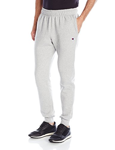 Cotton Fleece Oxfords - Champion Men's Powerblend Retro Fleece Jogger Pant, Oxford Gray, Large