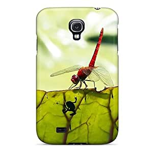 linJUN FENGBKNJqwZ626kHtSg Mialisabblake Awesome Case Cover Compatible With Galaxy S4 - Red Dragonfly