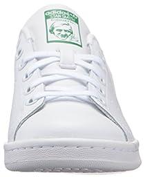 adidas Originals Boys\' Stan Smith J Skate Shoe, White/White/Green, 4 Medium US Big Kid