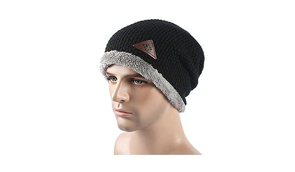 beanie Master-Halloween Navidad Sombreros Otoño Invierno Knit Hat Man Outdoors  Espesada Gorro de Punto Tapa Negra  Amazon.es  Deportes y aire libre dd621fe5ac8