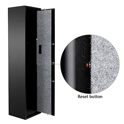 Rifle Gun Safe Large Firearms Shotgun Safe Cabinet Electronic 5 Gun Security Cabinet with Small Lock Box for Handguns Ammo┃Codes Memory Function┃Upgraded Honeycomb Box Packaging by FCH (Image #3)