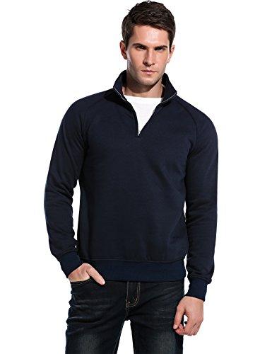 Coofandy Quarter Mock Neck Sweatshirt Pullover product image