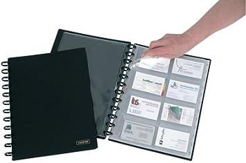 Adoc system reliure card lex pour cartes de visite a noir
