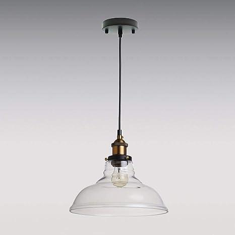 LES Yobo Edison-lámpara de techo de cristal-de la pantalla, para 1 bombilla