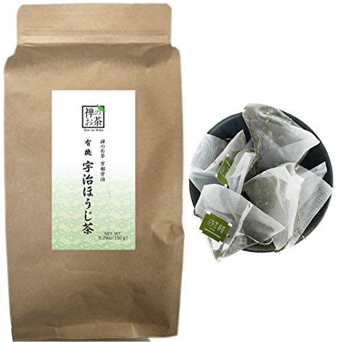 Zen no Ocha Japanese Hojicha tea bag 100% organic 5.29oz(150g) 100 pieces Made in Kyoto uji Japan ()