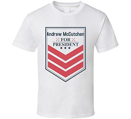 9d6f11f0f Andrew McCutchen For President Funny Political Baseball Cool Fan T Shirt XL  White | Amazon.com