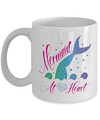 Cute Mermaid At Heart Mermaid's Tail Ceramic Muq 11OZ Coffee Mug ()