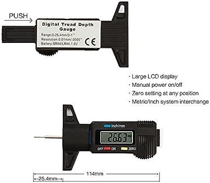 Naviskauto Reifenprofilmesser Profiltiefenmesser Elektronik