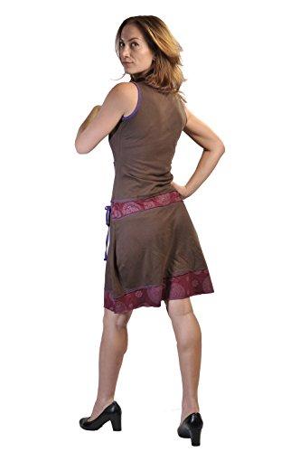 Vestido sin mangas del verano de las mujeres con manchas multicolores�?Marrón