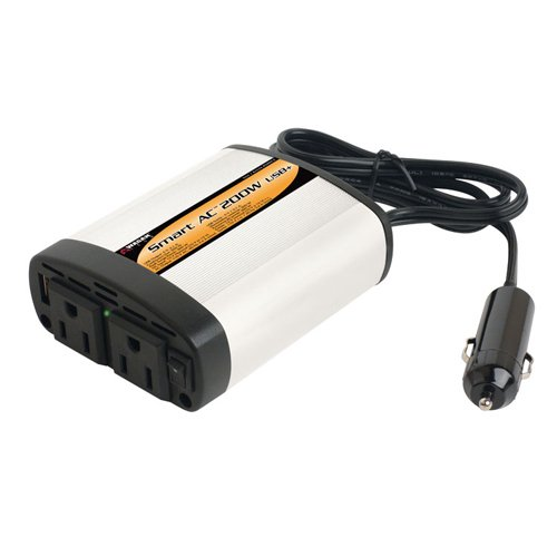 Wagan 2402-5 Smart AC 200W Inverter with 5V 2.1Amps. USB Power Port by Wagan