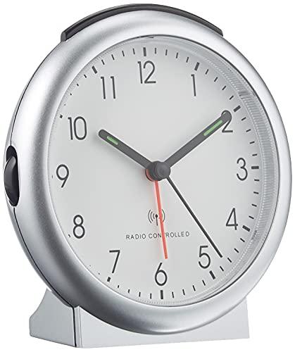TFA 98.1036 - Reloj Despertador inalámbrico, Color Plateado