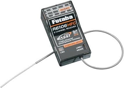 6 receptor Rx Channel Futaba R6106HFC 2.4GHz FASST Rango Medio