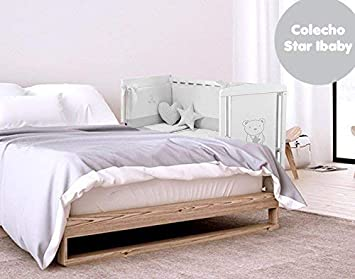 Cuna Colecho 120 x 60 cm Star Ibaby. 8 posiciones de Somier para adaptarla a cualquier cama.: Amazon.es: Bebé