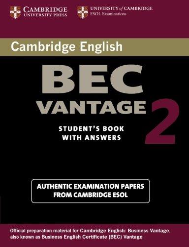 Cambridge Bec Vantage 2 (BEC Practice Tests)