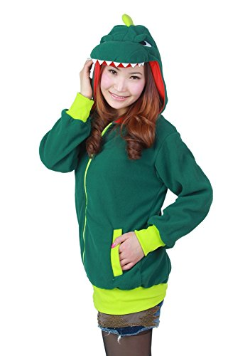 OLadydress Zipper Animal Hoodie Unisex Adult Family Sports Jacket with Pockets DINOSA-GN Small