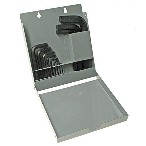 EKLIND 10515 Hex-L Key Allen Wrench - 15pc Set Metric MM Sizes 0.7-17 Short Series w/Metal Box