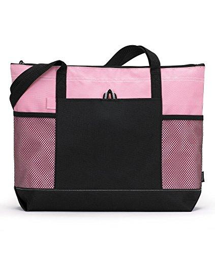 Personalize Zipper Tote Bag - Gemline 1100 Select Zippered Tote