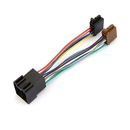 Manakayla Car Stereo Audio Harness with ISO Adapter for Peugeot 106 206 306 307 405 406 Multicolor ()