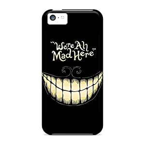 LatonyaSBlack PnTvJzG4793YYFqi Case For Iphone 5c With Nice Alice In Wonderland We Are All Mad Here Appearance