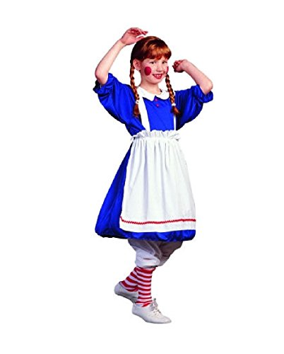 Pop Art Costume Blue Wig (OvedcRay Raggedy Ann Rag Doll Child Costume Clown Girl Dress Halloween Costumes)
