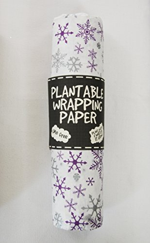 Plantable Wrapping PaperSet of 2 (Snowflake)