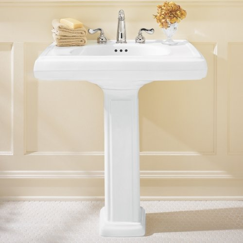 American Standard 0191.643.222 Heritage Pedestal Sink Basin with 8-Inch  Faucet Spacing, Linen - - Amazon.com