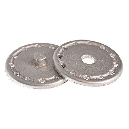Mibo Buttons Metalic Nylon Sew Through 28 mm/38 mm Snap Nickel/Gold 5 Pack Line 44 Matte Nickel Metalic Snaps