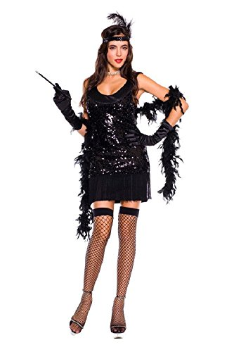 5 Piece Roaring Flapper Girl Halloween Costume
