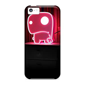 Awesome 3d Table Lamp Flip Cases With Fashion Design For Iphone 5c Black Friday