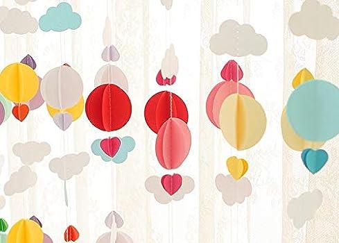 Amazon.com: 1 juego de guirnaldas de papel con diseño de ...