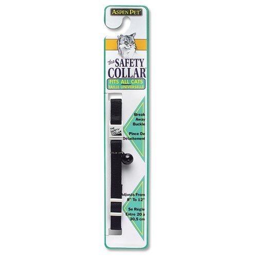 "Aspen Pet Products Adjustable Collar, 8-14"" x 3/8"", Black"