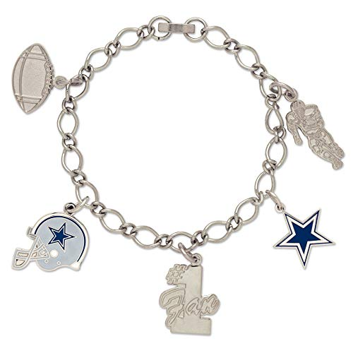 NFL Dallas Cowboys Carded Bracelet with Charm Jewelry]()