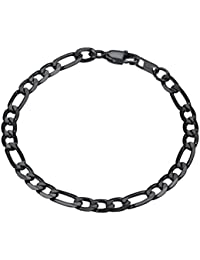 Men Women Children Stainless Steel Figaro Link Chain Bracelet 6mm/9mm/13mm 7.5''/8.3''