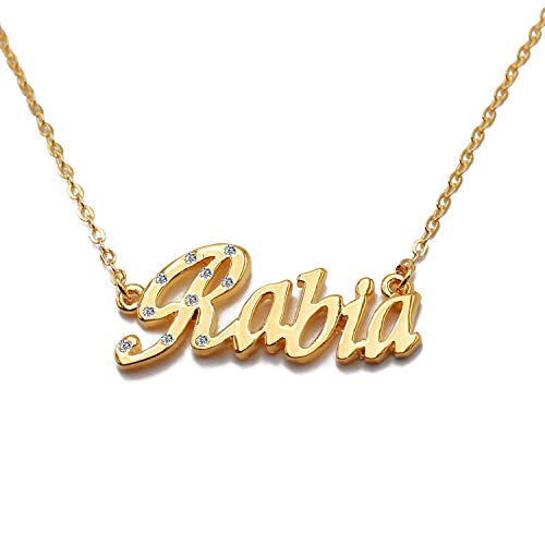 Zacria Kelly Custom Name Necklace Personalized 18ct Gold Plated