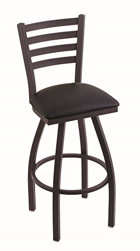 (Holland Bar Stool Company 410 Jackie 25-Inch Counter Stool with Black Wrinkle Finish, Black Vinyl Seat and 360)