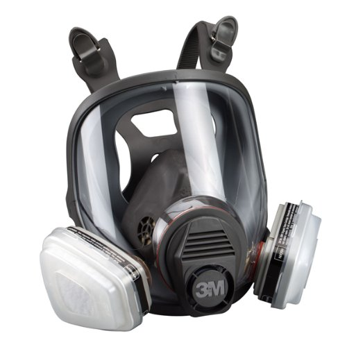 3M 07163 Full Facepiece Respirator Packout Organic Vapor P95, Large