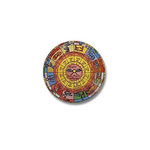 CafePress - Vintage Celestial, Zodiac Wheel Mini Button - 1