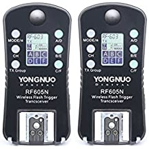 YONGNUO Wireless Flash Trigger & Shutter Release RF605N for Nikon DSLR D1/D2/D3/D4/D200/D300/D700/D800 series, D90/D600/D3000/D5000/D7000 series.