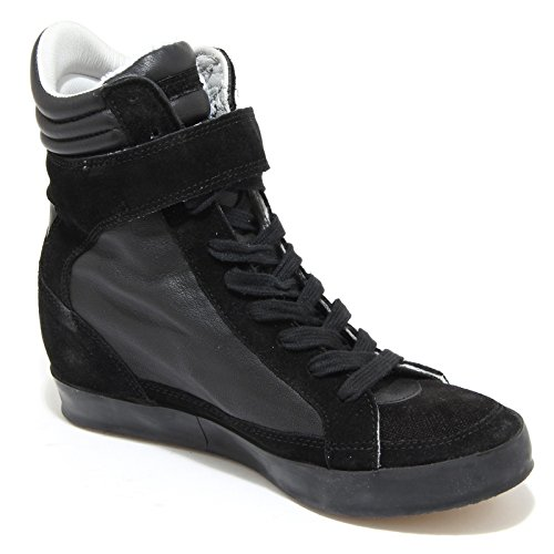 Philippe Shoes Nero Sneakers Alta Nera 4419m Zeppe Acier Scarpe Model Donna Women Btqwg7A