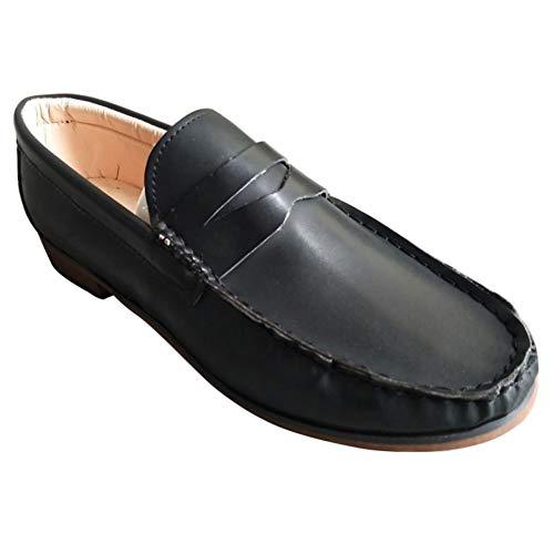 Nero Pantofole Loafers Barca Ufficio Casual Donna Daytwork Scarpe Cuoio Guida Lavoro Penny Estate Comode Mocassini On Slip Outdoor Classic Piatto Da w8zR86qv