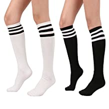 Spring fever Women Stripe Over the Knee High Sock Thigh Stockings Cosplay Socks