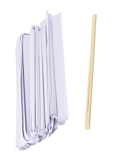 Disposable Chopsticks - 200-Pack Bamboo Chopsticks Disposable and Individually Packed, Connected at the Top, Natural Bamboo, 8.2 x 0.49 Inches by Juvale